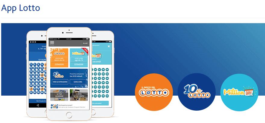 Lotto App per giocare via Mobile In milioni di giorni
