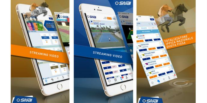 Le funzionalità dell'app Snai